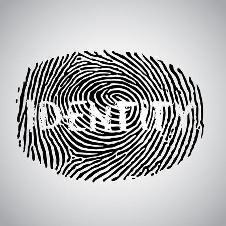 Fingerprint and ID text, vector Vector