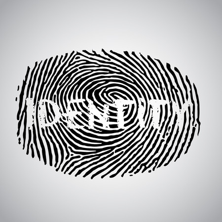 csi: Fingerprint and ID text, vector