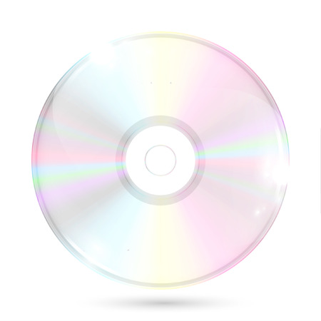 cd rom: Illustration with a realistic CDDVD, vector