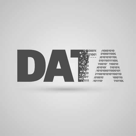 Data typography becoming numbers, vector Vector