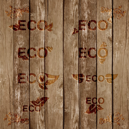 Wood eco background, vector