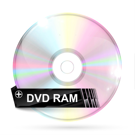 dvd case: Realistic CDDVD with label, vector