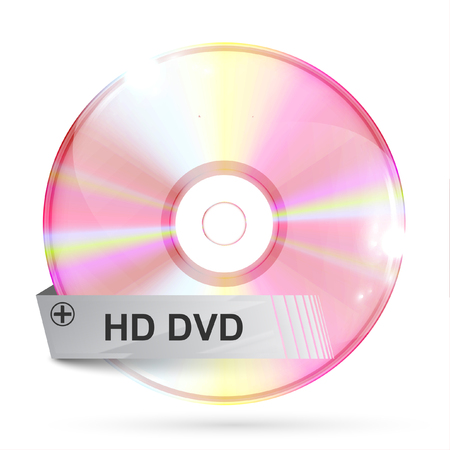 cd rom: Realistic CDDVD with label, vector