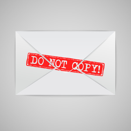 White envelope with warning sign, vector Vector