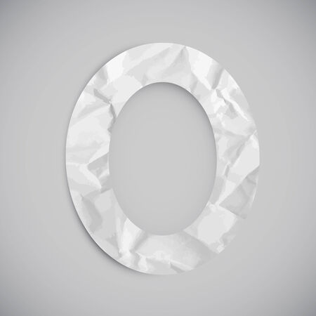 Number made by crumpled paper, vector Illustration