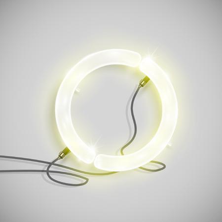 Neon letter, vector Illustration