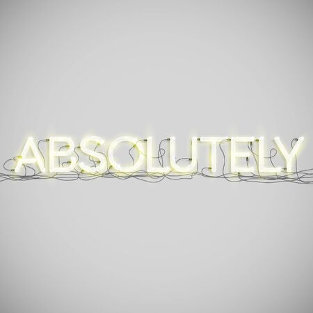 absolute: Absolute made by neon type, vector