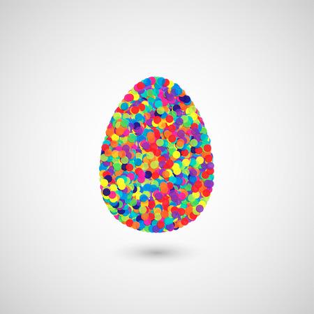 vintagern: Colorful illustration for Easter, vector
