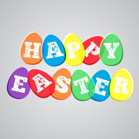 Colorful illustration for Easter, vector Vector