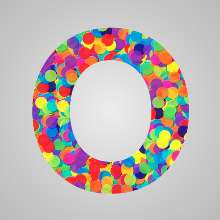 yellowrn: Colorful letter made by circles, vector