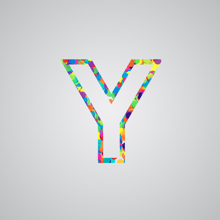 yellowrn: Colorful letter, vector Illustration