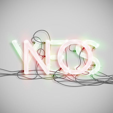 typeset: YES and NO, made by NeON typeset, vector