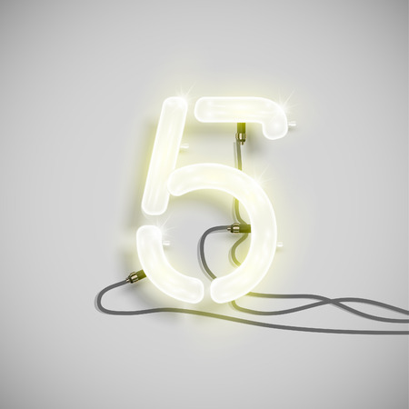 Number, made by NeON typeset, vector