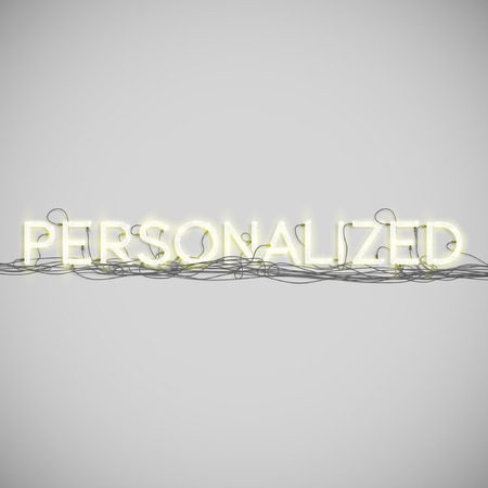 personalised: A word made by neon type, vector