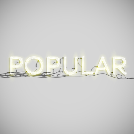 yellowrn: A word made by neon type, vector