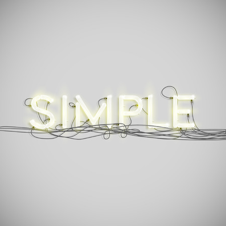 A word made by neon type, vector Vector