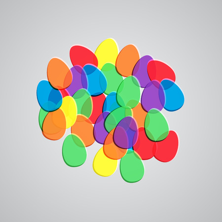 yellowrn: Colorful Easter eggs, vector Illustration