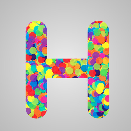 Colorful letter, vector Vector