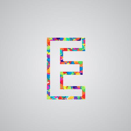 hebrew alphabet: Colorful letter, vector Illustration