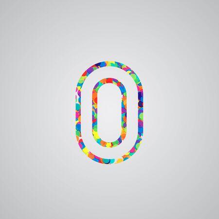 hebrew alphabet: Colorful number, vector