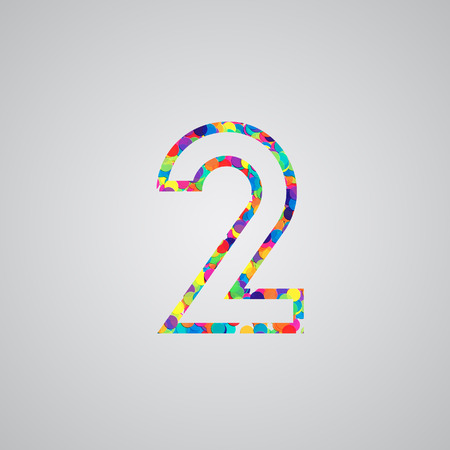 Colorful number, vector Vector