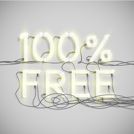 100% free, made by NeON typeset, vector