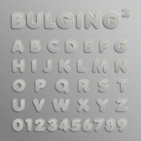 Realistic 3D font, vector Illustration