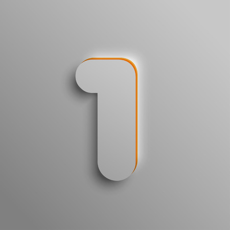 wordrn: Realistic 3D number, vector