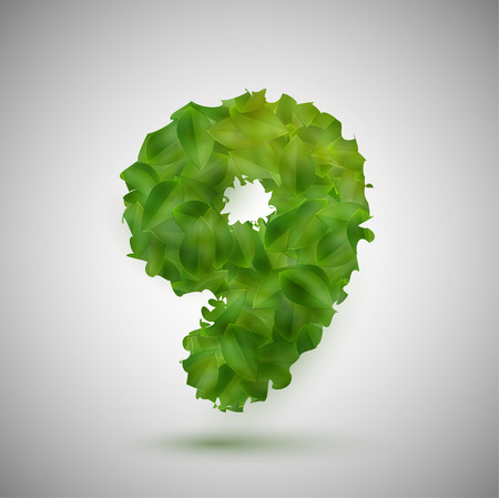 vectorrn: A number made by leaves, vector