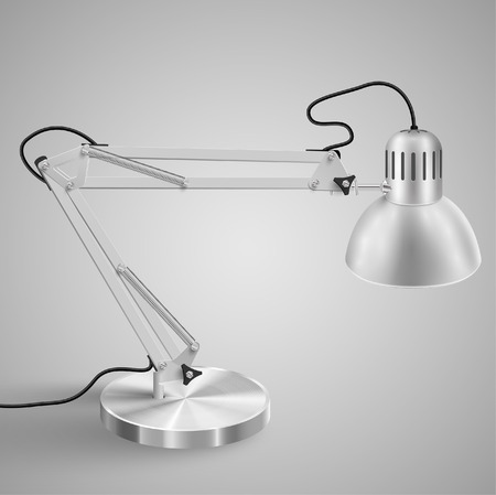 Realistic metal table lamp - OFF, vector Vector