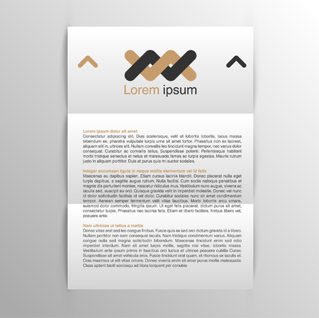 Business realistic A4 paper, vector
