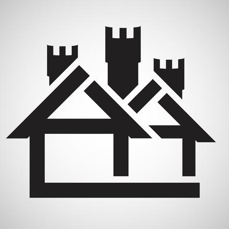 pcs: House type, vector icon