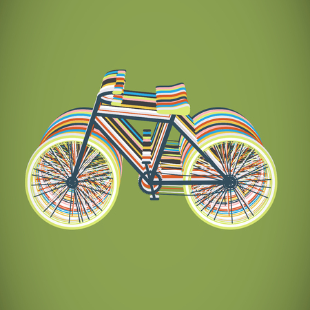 episodes: Colorful bicycles flat design, vector Illustration