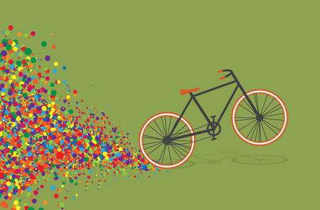 El diseño colorido de la bicicleta plana, vector Foto de archivo - 55603609