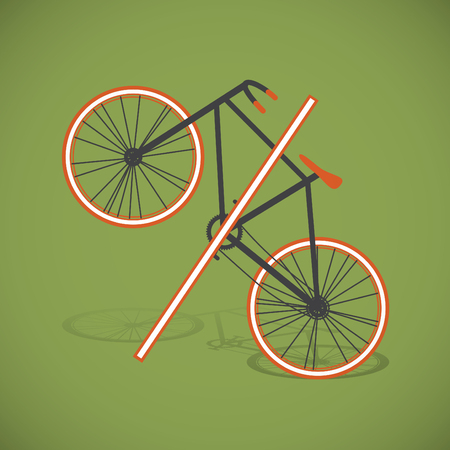 shaping: Colorful flat percentage shaping bicycle design, vector