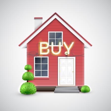 house exchange: House illustration, vector