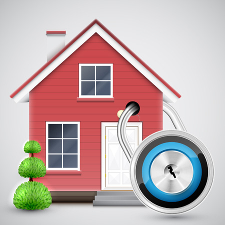 Home security, vector