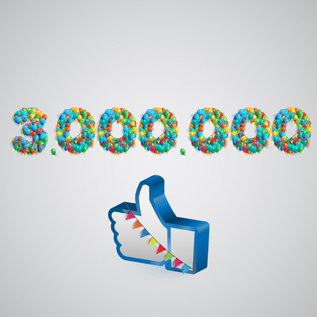 one hundred and ten: Number of likes with a thumbs up sign, vector Illustration