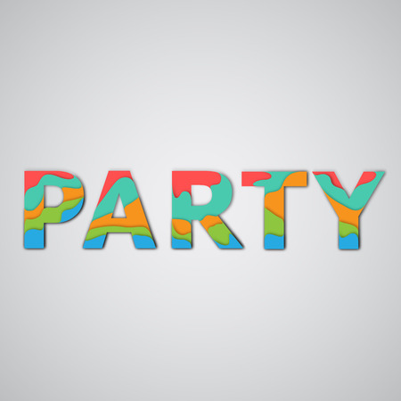 layered: Colorful layered word, vector