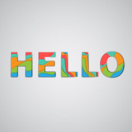 Colorful layered word, vector Vektoros illusztráció