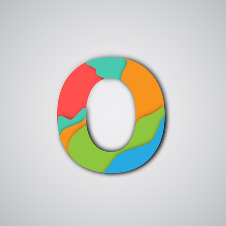 layered: Colorful layered character, vector