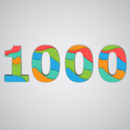 one hundred and ten: Colorful layered number, vector