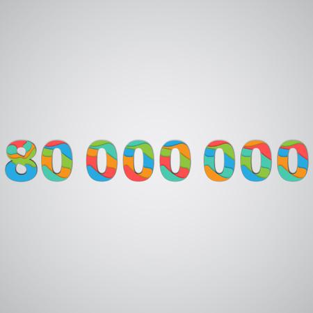 Colorful layered number, vector Vektoros illusztráció