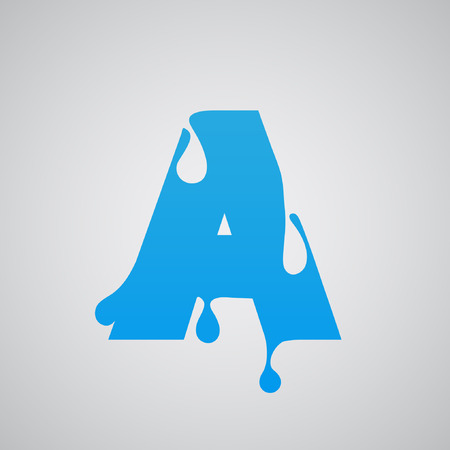 Blue flow from the typeset font, vector