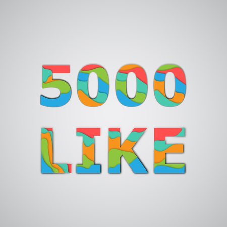 Layered number of likes, vector