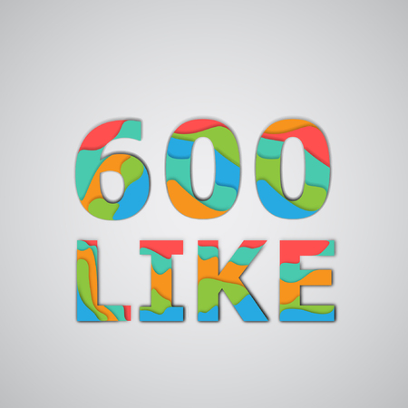likes: Layered number of likes, vector