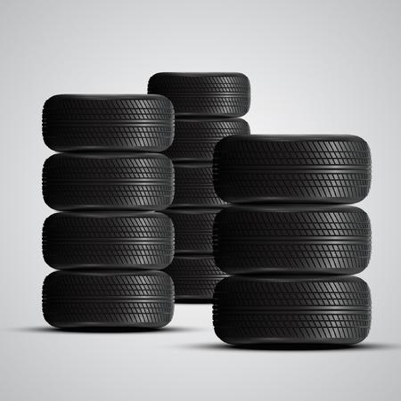 tread: High detailed The tires, vector