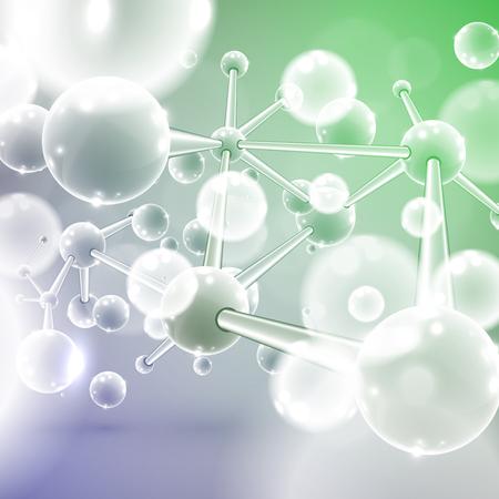 Hoch detailliert Der Moleküle-Vektor