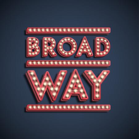 Broadway illustration, vector