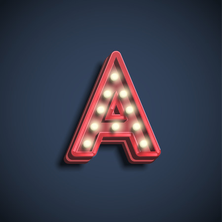 Character from the typefaces, vector